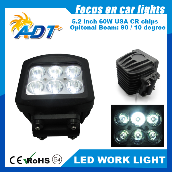 1pcs CE, RoHs super white 10-30V DC 60W 6* Cr led 6000K 4.0 inch with EMC flood lights spot lights fit ATVs,SUV,truck,Tractor ce emc saa rohs gs ul listed commercial 100w commercial led pendant lights
