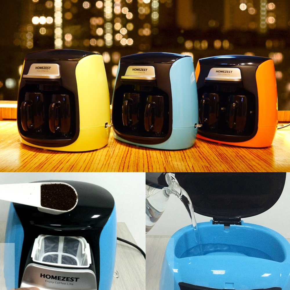 Mini Full-automatic Household Coffee Maker With Double Cups American Coffee Machine With Anti-dry Safety Protection Portable household fully automatic coffee maker cup portable mini burr coffee makers cup usb rechargeable capsule coffee machine