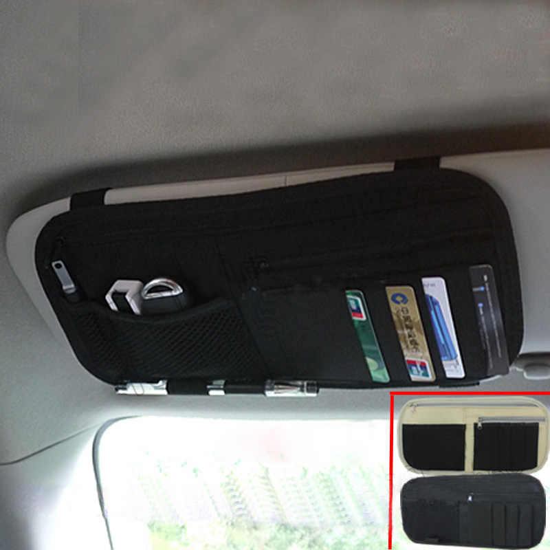 Многофункциональный автомобильный чехол для хранения для автомобиля Оксфорд солнцезащитный козырек Органайзер сумка для карты мобильного телефона ручка держатель солнцезащитных очков XR657