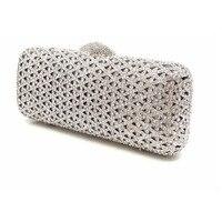 3472066b4 Fashion Silver Evening Dress Bags Day Clutches Design Rhinestone Diamond  Box Clutch Pearl Beaded Diamonds Bag