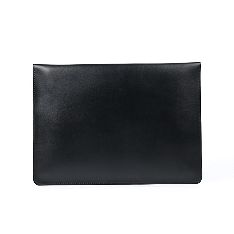 Image 2 - A4 Document Holder Nature Leather File Folder for Documents Bag Case With Buckle Paper Storage Office School Filing Supplies-in File Folder from Office & School Supplies