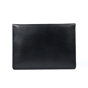 Image 2 - A4 Document Holder Nature Leather File Folder for Documents Bag Case With Buckle Paper Storage Office School Filing Supplies