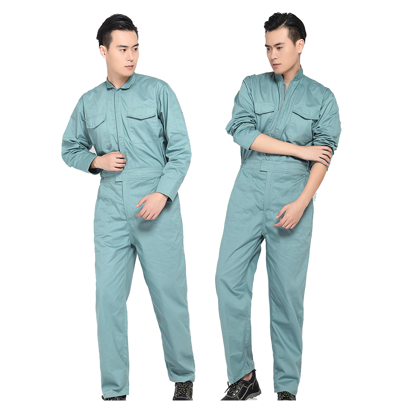 working uniforms Work overalls men women protective coverall repairman strap jumpsuits trousers Plus Size Solid color coveralls