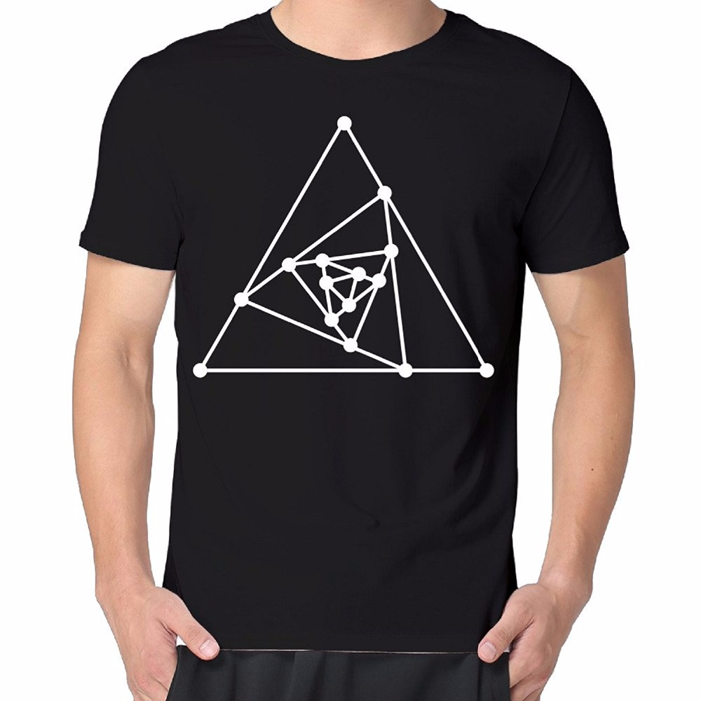 Shirt design china - 2017 Cool Men Funny Design T Shirt Novelty Tops The Simple Triangles Casual Men S O