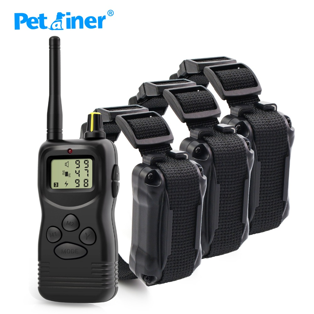 Petrainer 900 3 pet product electric dog collar 1000m for small and large dogs