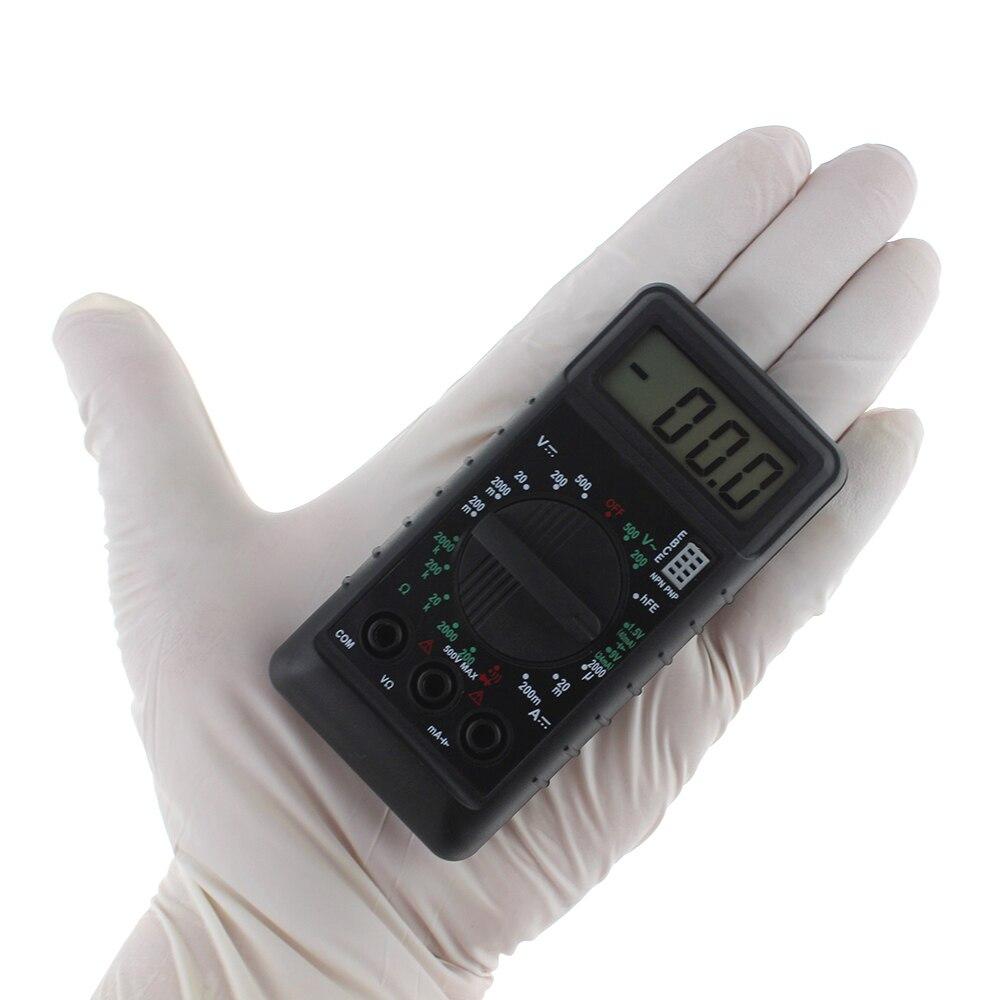 LCD przenośne częstotliwości narzędzia testowe cyfrowy multimetr mini z brzęczykiem zabezpieczenie przed przeciążeniem napięcie kieszonkowe amperomierz miernik oporu elektrycznego DC AC