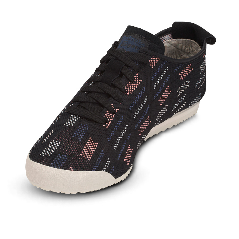 Onitsuka Tiger Casual Shoes for Women / Men Knitted Fabrics Breathable Comfortable Sneakers Badminton Shoes MEXICO 66 KNIT D703N