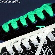 1 Pair Luminous Shoelaces Athletic Sport Flats Canvas Shoes Lace Flash Party Glowing Shoelace Fluorescent  6colors