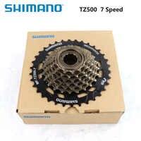 SHIMANO MF-TZ500 7 Speed Bicycle Freewheel 14-28T 14-34T Sprocket 7s Steel for MTB Road Folding Bike Cycling Bicycle