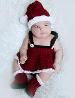 لطيف جدا طفل زي التصوير تعيين kintting الشقي الوليد صور الدعائم قبعة طفل الكروشيه تتسابق الأزياء