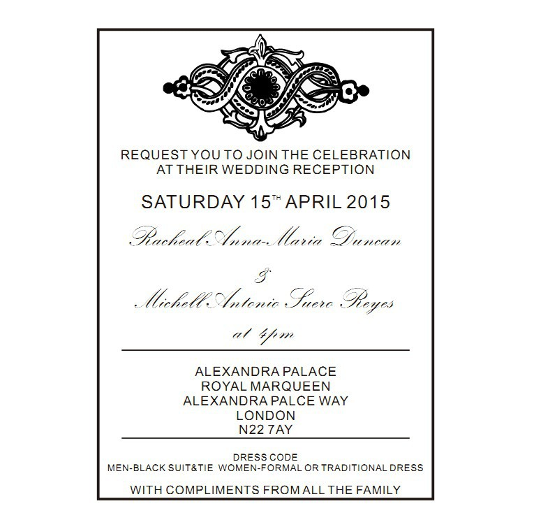 Wedding Invitation Size With Cool Color Mixture For Creating Perfect Wording 185