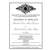 Customize standard size acrylic wedding invitation card