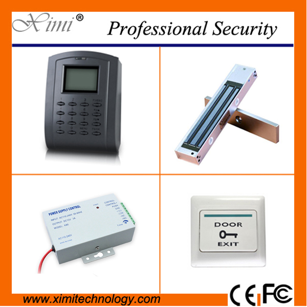 Cheap free software door access control system with magnetic lock exit button power supp ...