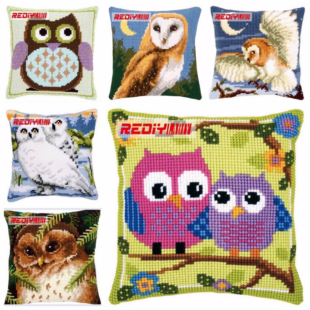 Cappuccino Needlepoint Kit Printed Tapestry Canvas European Quality Throw Pillow 16/×16 Inches