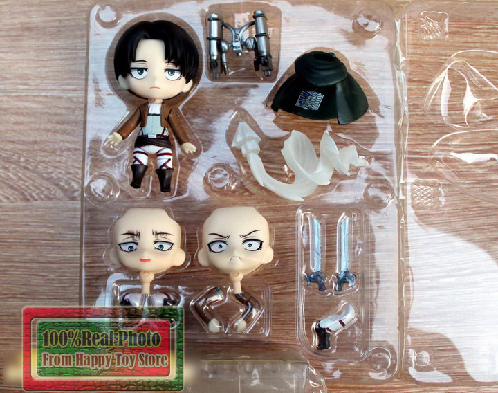 10cm Styles Nendoroid Q Version Attack on Titan Legion Levi Rivaille #390 Toy Figure Collectable toys 25cm levi ackerman rivaille li weier soldiers attack on titan trunk standing battle edition pvc action figure model toys