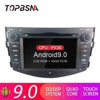 TOPBSNA Android 9.0 Car DVD Player for Toyota rav 4 RAV4 GPS Navigation 2 Din Car Radio Multimedia WIFI Stereo Headunit Auto RDS