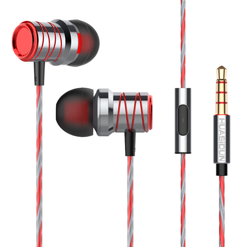 P20 In-ear Headphones Super Bass Stereo Earphone with Microphone Metal 3.5mm for iPhone /Samsung Mobile Phone Go pro MP3