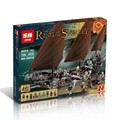 2017 New 756pcs Lepin 16018 The lord of rings Series The Ghost Pirate Ship Set Building Block Brick Toys 79008