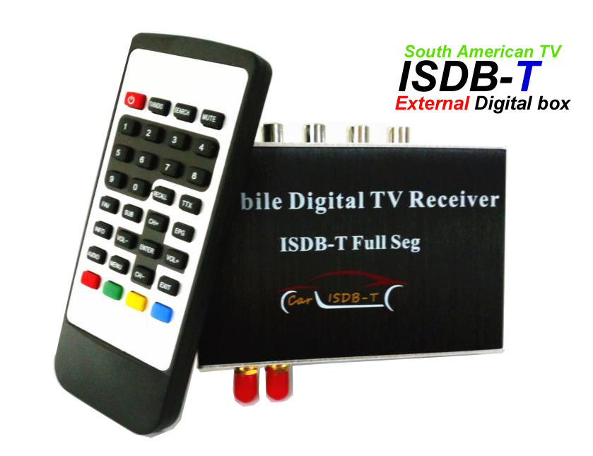 Hiriot Auto Externe Digitale ISDB-T <font><b>TV</b></font> Box Voll Seg Tuner/Antenne Für South Amerikanischen Markt Auto DVD Android-Player HD 1080P image