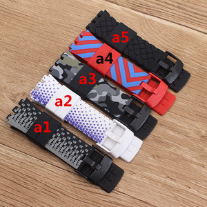 Image 1 - Heat Original quality watchband Accessories watch strap band For Swatch for Touch series Silicone  stainless buckle logo SURB100