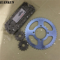 XUANKUN 125 JYM125 YBR125 Sleeve Size Tooth Plate Large Chain
