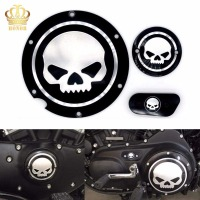 3 in 1 Skull Accessories Engine Derby Timer Cover For Harley Sportster XL883 1200 48 72