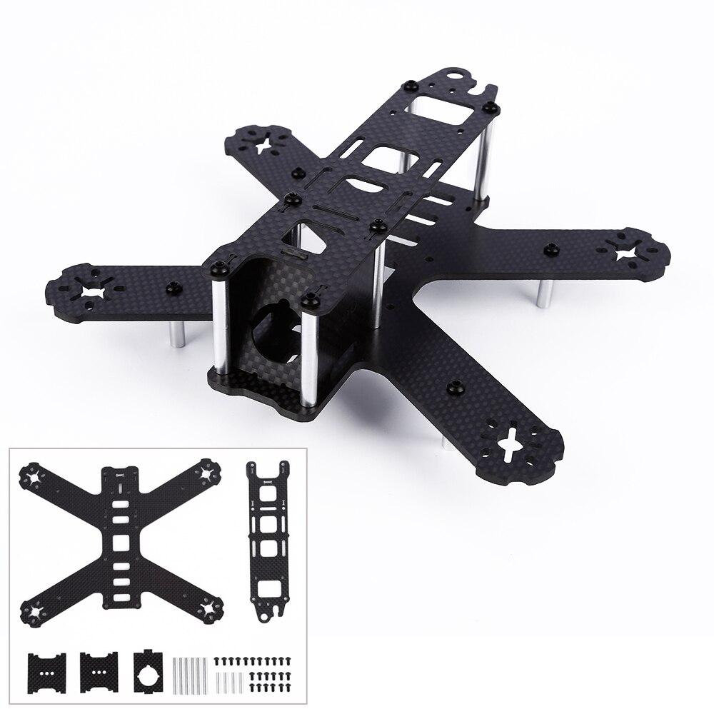 1pcs Black DIY 180 Wheelbase Carbon Fiber Aircraft Frame Aluminum Column for Mutilcopter FPV drones orange 550mm wheelbase 4 axles foldable aircraft frame for xcam 480 fci