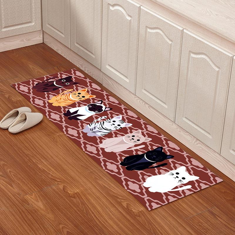 non slip kitchen rugs vans anti cat mat for bathroom bath mats and ...
