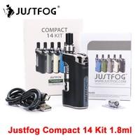Original E Cigarette JustFog Compact 14 Kit 1500mah Vape starter Kits with 1.8ml Clearomizer vs JustFog Q16 E Cigarette Vape
