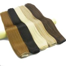Soowee 60 см Длинные Прямые Женщины Клип в Наращивание Волос Черный Коричневый Высокая Температура Синтетические Волосы iece(China (Mainland))