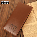 VKTERY New long paragraph leather men wallet multi-card bit long leather wallet fashion men's business wallet