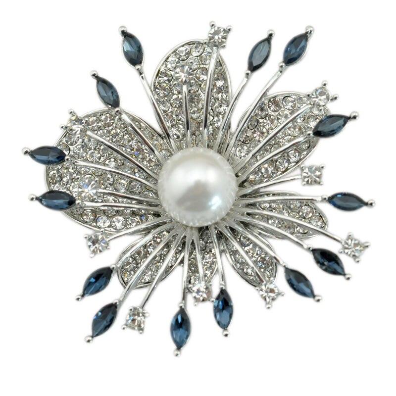 Cooperative Crystal Rhinestone Marquise Spark Firework Brooch Pin Garment Flower Fashion Accessory Jewelry
