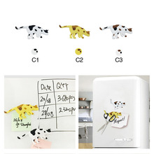 Cute Animals Cat PVC Fridge Magnet Sticker Cartoon Pattern Funny Refrigerator Toy magnet kids Linked to the refrigerator
