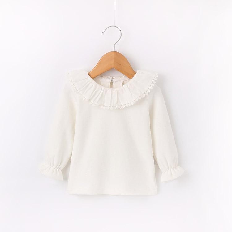 Girls Shirt Autumn Korean-Style Princess Cotton Children's And Lace-Collar