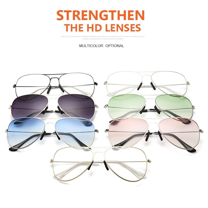 FEISHINI Summer Ocean Blue Transparent Color Blind Sunglasses Women Luxury Metal Anti glare Vision Pilot Sunglasses Men Brand in Men 39 s Sunglasses from Apparel Accessories