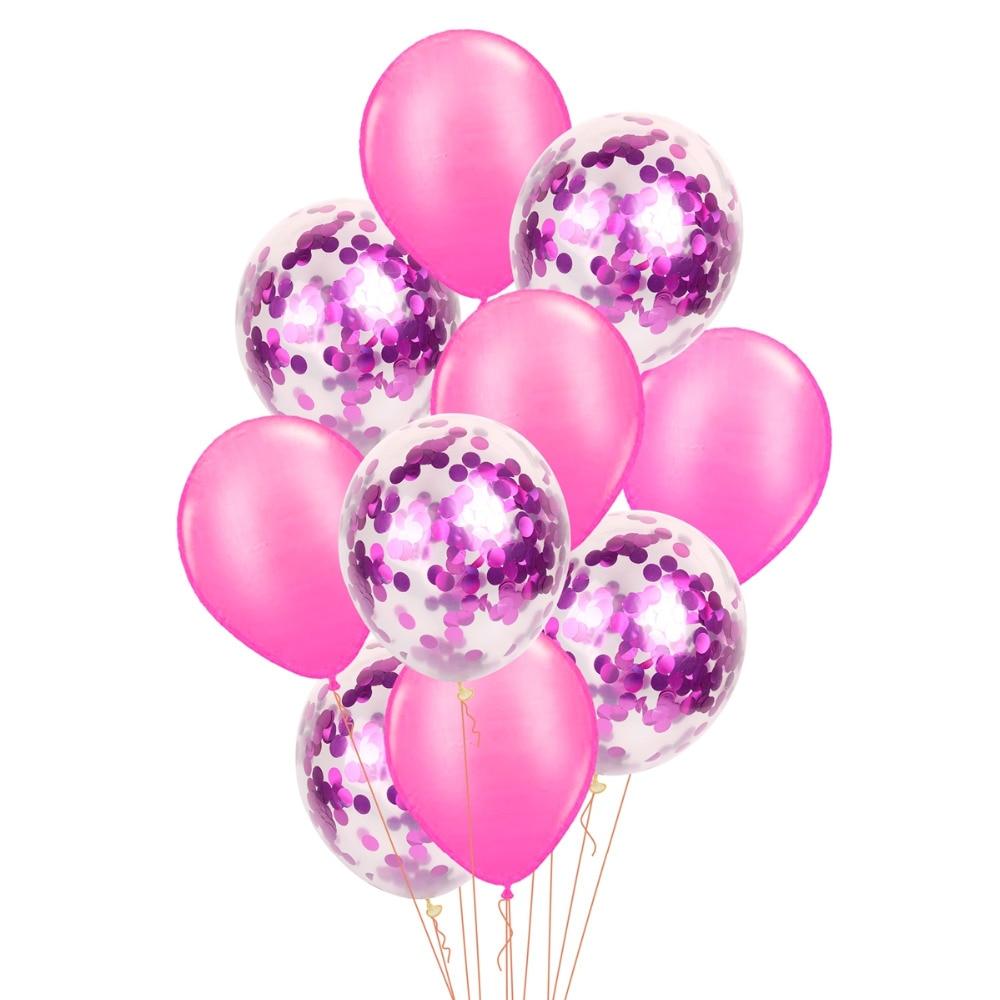 QIFU 10st 12-tals konfetti Ballong Rose Guld Latex Ballonger - Semester och fester - Foto 5