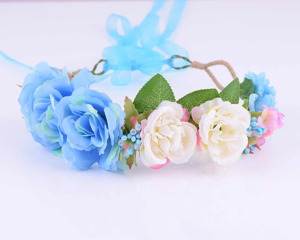 Cxadincts регулируемая ткань ягода Девушка повязка роза цветок гибискуса Свадебная Цветочная Корона венок для волос свадебное украшение деревенский