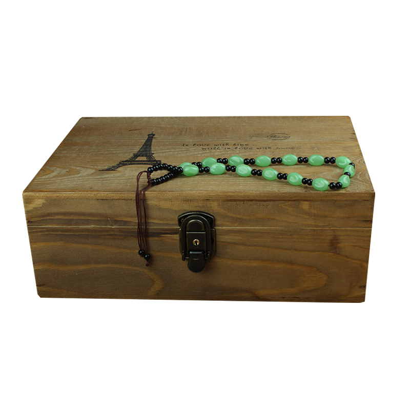 Vintage Wooden Storage Box Case Storage Box Organizer For Jewelry Office Pencils Storage Retro Home Decor Container