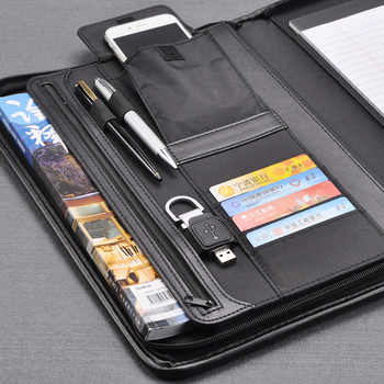 Bag business document file folder folders for A4 documents padfolio briefcase with zipper USB pen holder mobile bag 1178B - SALE ITEM All Category