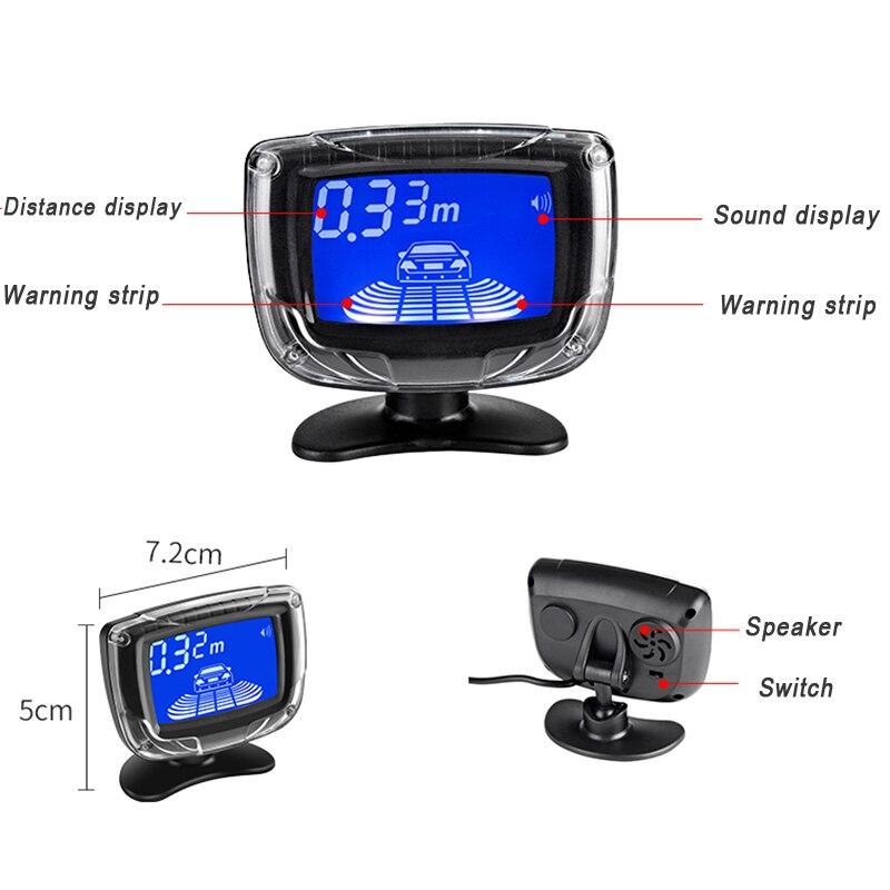 4 Parking Capteurs écran LCD Voiture Auto Backup inverse de recul Kit@#