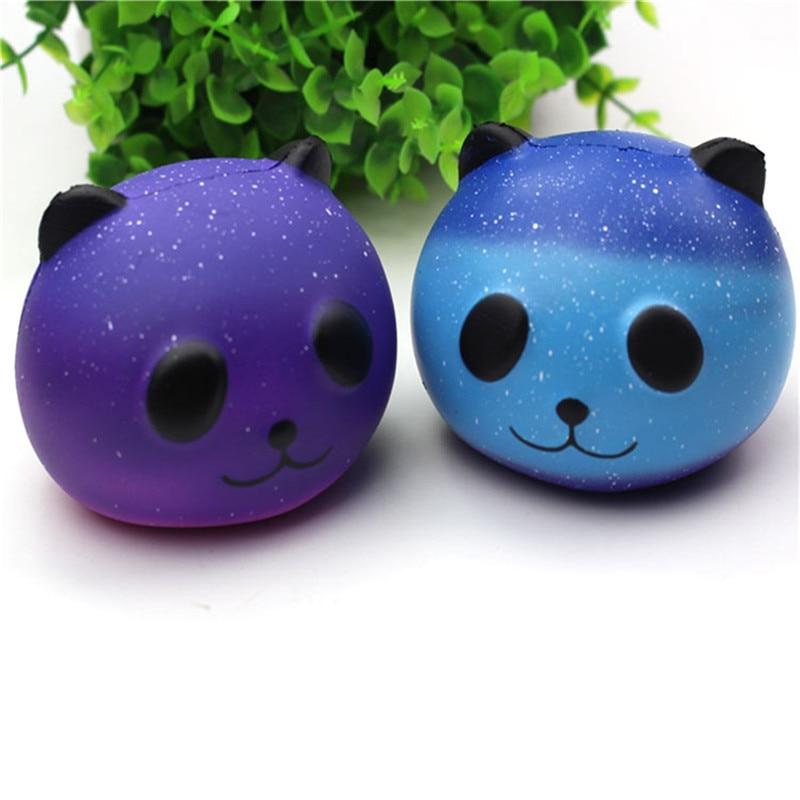 Kawaii Design Panda Squishy Slow Rising Cream Scented Fun Antistress Novelty Funny Gadgets Anti Stress Squeeze Galaxy Toys