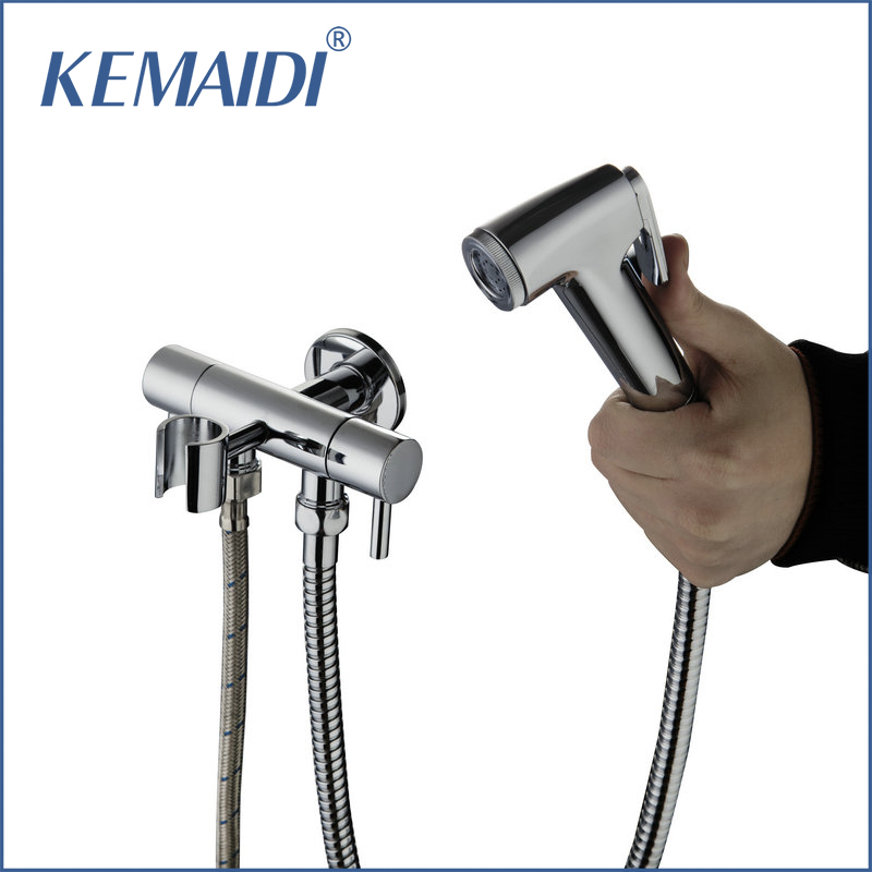 KEMAIDI Cold Wall Mounted Brand Bathtub Torneira Single Chrome Shower +ABS Handshower Bathroom Basin Sink Brass Mixer Tap Faucet