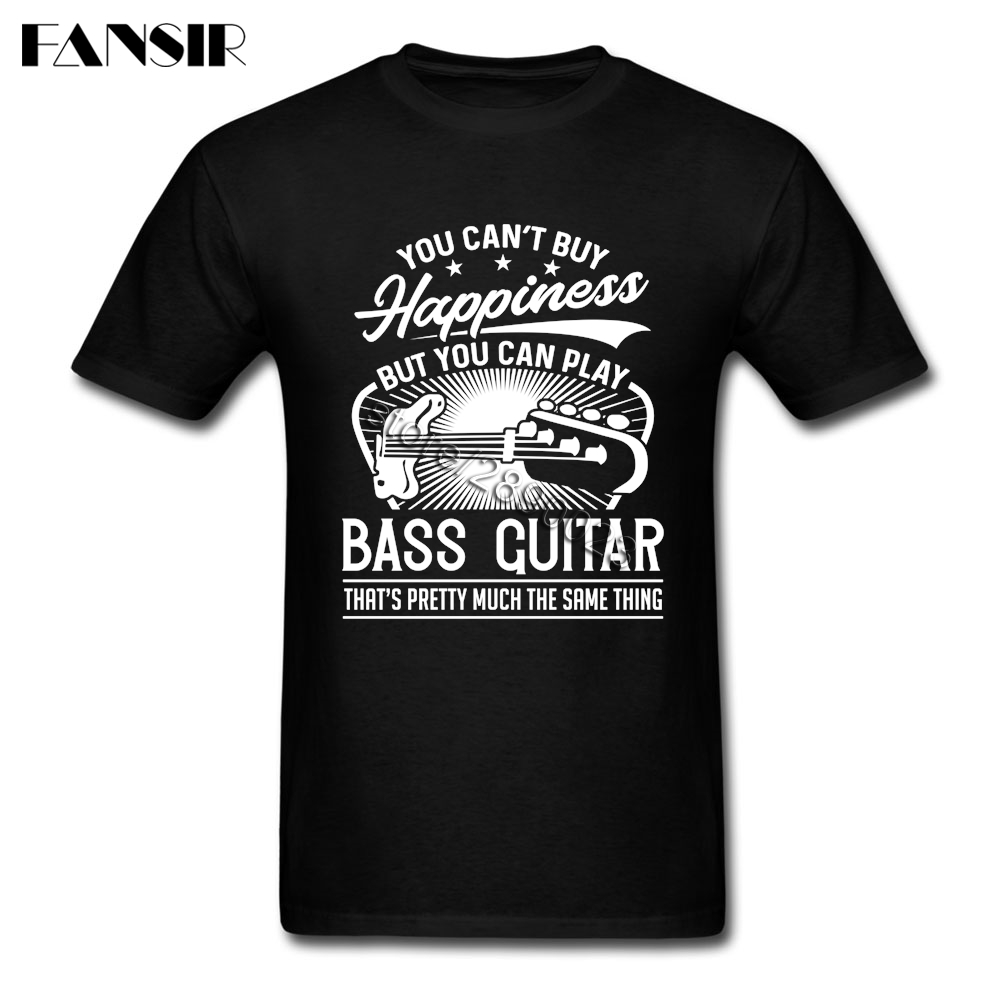Bass Guitar Short Sleeve   T     Shirts   Male Latest Design Tshirts Pure Cotton O-neck Men's   T  -  shirt   For Team