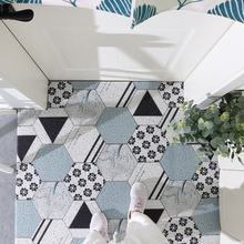 купить Nordic INS Entrance hall carpet PVC wire loop mat Geometric tiles Door mat Living room floor mat bathroom non-slip rug по цене 3132.81 рублей