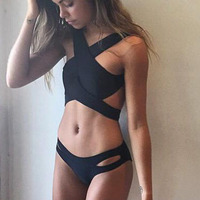 Swimwear Female Crossover Wrap Bikini Women S Beach 2016 Brazilian Bikinis Set Vintage Departure Beach Swimsuit