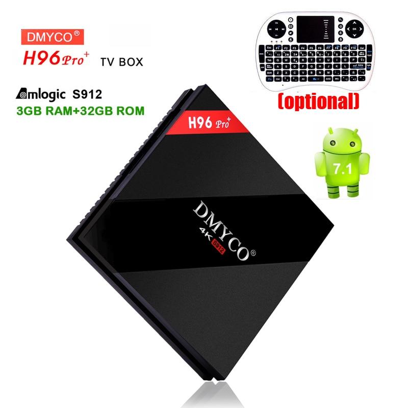 h96 pro plus Smart TV BOX android 7.1 octa core Amlogic S912 3GB+32GB ROM MINI PC 2.4G Dual Wifi IPTV DLNA 4K HD Media Player