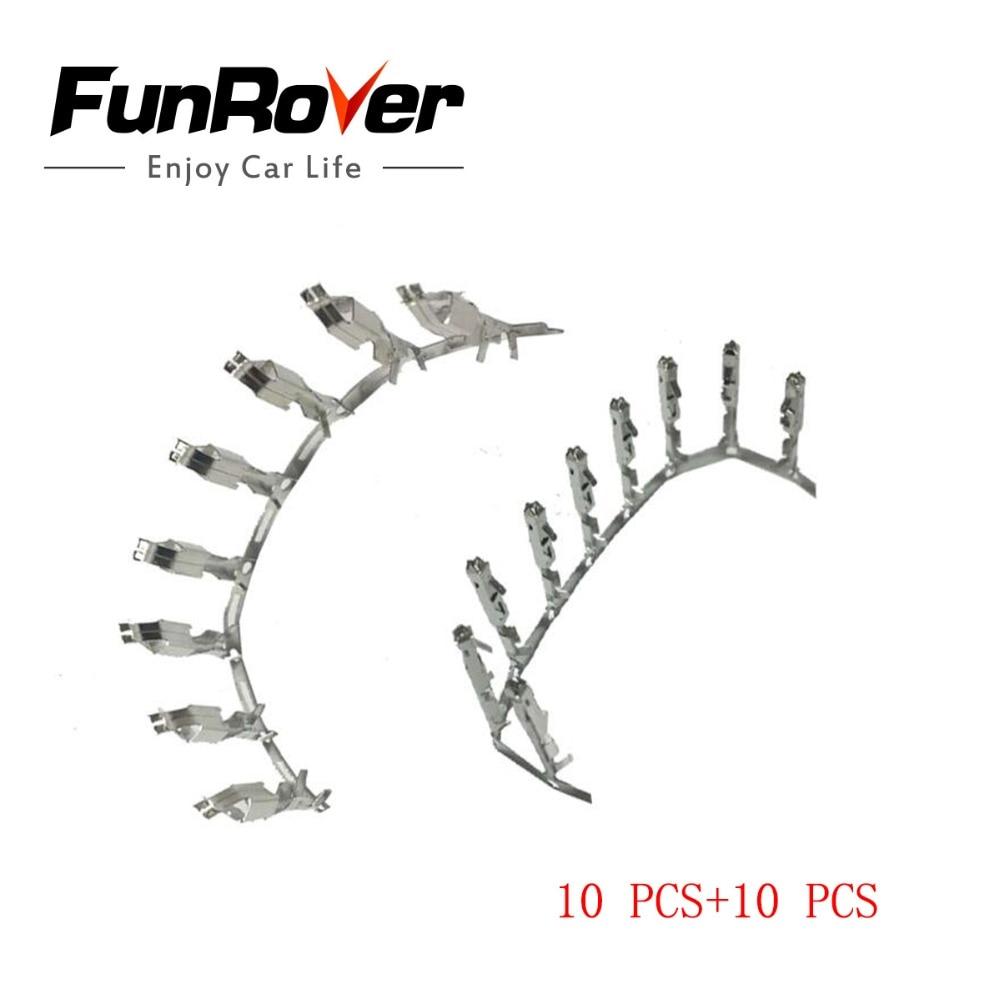 FUNROVER ecu terminal Seat crimp pin repair wire N 907 647 01 000 979 009 E ECU cruise terminal for VW forSkoda audi 10PCS+10PCS