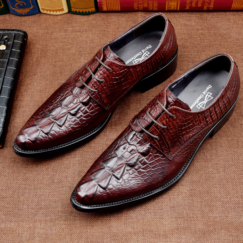 Crocodile grain Black / brown tan oxfords shoes mens dress shoes genuine leather wedding shoes mens business shoes for work crocodile grain brown tan black loafers mens dress shoes genuine leather wedding shoes mens casual business shoes