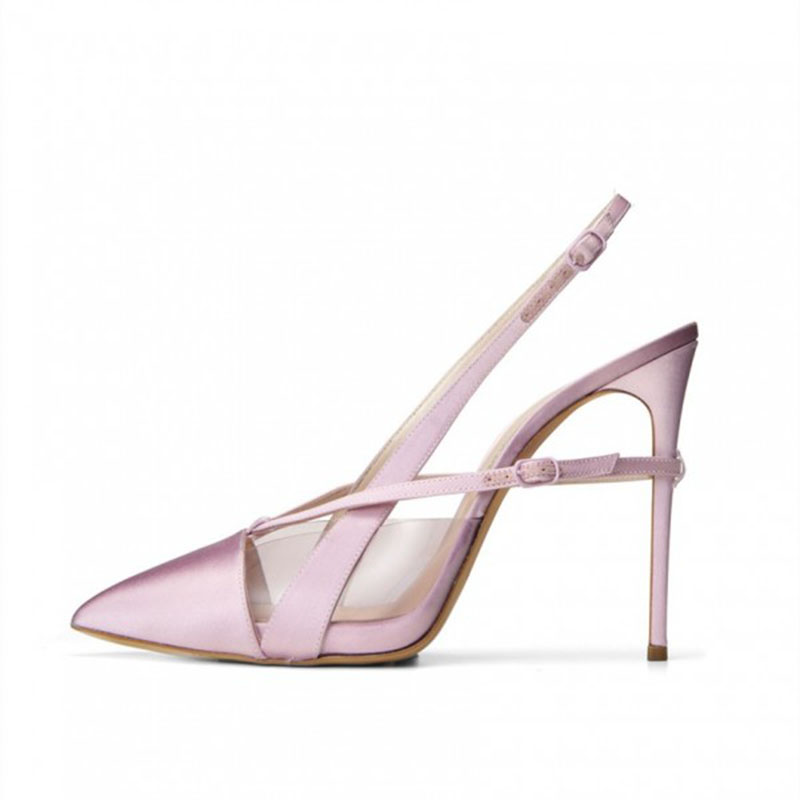 2108 Grande Talón Stiletto Shoes11 Señoras Orquídea Zapatos Mujer Slingback Punta Tamaño Otoño Tacones Primavera Fsj01 Estrecha Fsj 13 Bombas 12 PZ8qnaaI