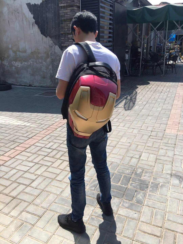 33D ברזל איש עיני זוהר תרמיל נוקמי תרמילים עמיד למים גברים נשים תיק חבילת יוקרה מעצב תיקי בית ספר נסיעות תרמיל